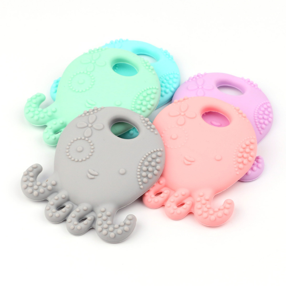 TYRY.HU Octopus Silikonowe Gryzak BPA Darmowe Silikonowe Wisiorek Dla - Opieka nad dzieckiem - Zdjęcie 3