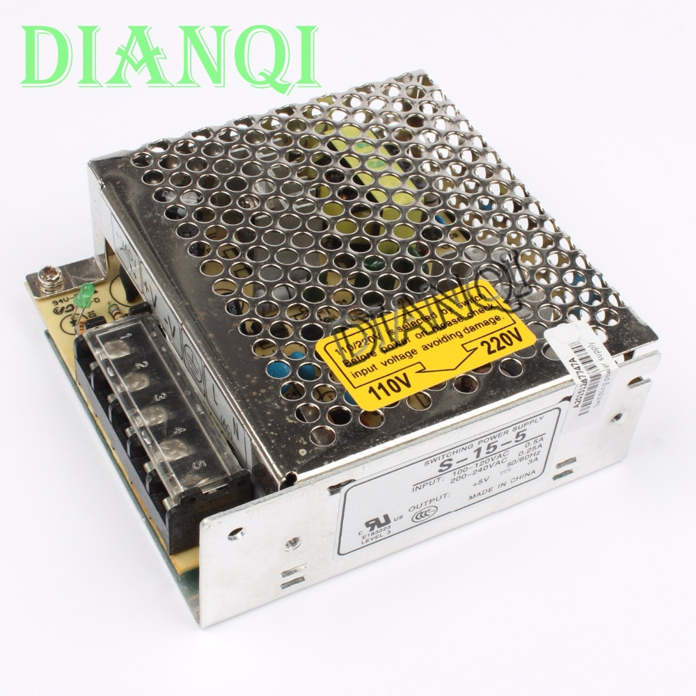 DIANQI power suply unit 15w 5v 3a ac to dc power supply ac dc converter  high quality S-15-5 low price high power ac dc converter drp 480 15 480w 32a 15v switching power suply for industrial