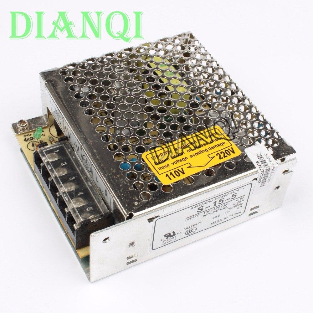 DIANQI power suply unit 15w 5v 3a ac to dc power supply ac dc converter  high quality S-15-5 original power suply unit ac to dc power supply nes 350 12 350w 12v 29a meanwell
