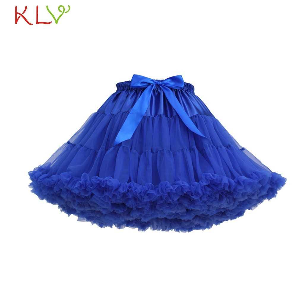 409b454c64d6c Skirts Womens Fluffy Tutu Rok Dames Blue White Tulle Adult Sexy Mini Skirt  High Empire Faldas