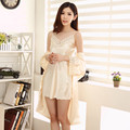 Luxury Sexy Women's Bathrobe New Arrival Summer Half Sleeve Mini Lace Satin Bridesmaids Casual Female Sleepwear Wife Gifts