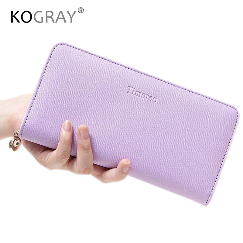 Wallet Female PU Leather Clutch Handbag Candy Color Long Women Wallets Credit Card Holder Coin Purse Phone Pocket Women Bag B745 аксессуар proconnect bnc 05 3076 4 7