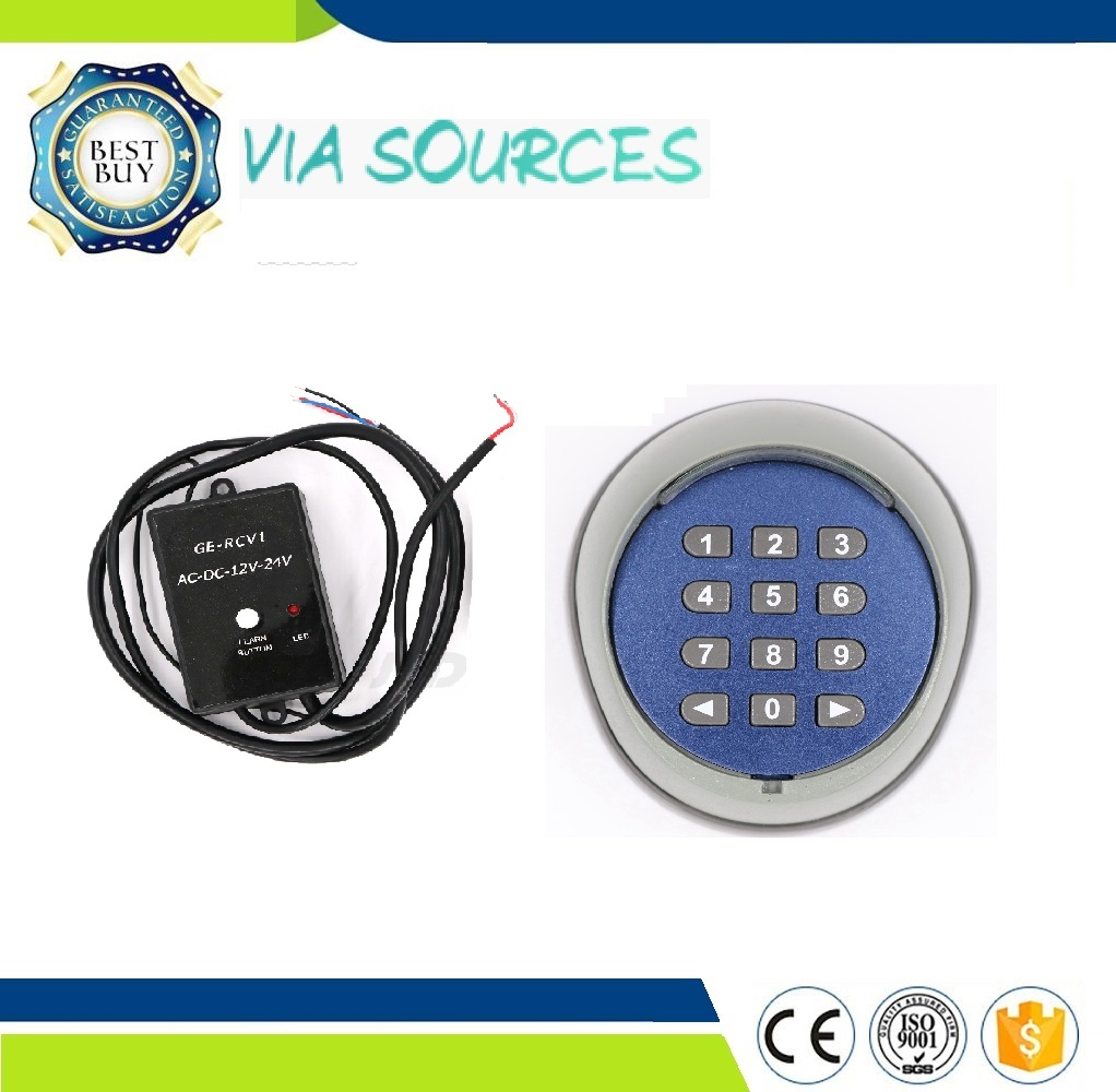 Free Shipping HCS101 Standard Code 433MHz Wireless Keypad Password Switch Universal Remote Controller