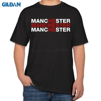 Personality T Shirt Homme United Kingdom Manchester Is Red Letters Sunlight Funny T Shirts Cotton Simple