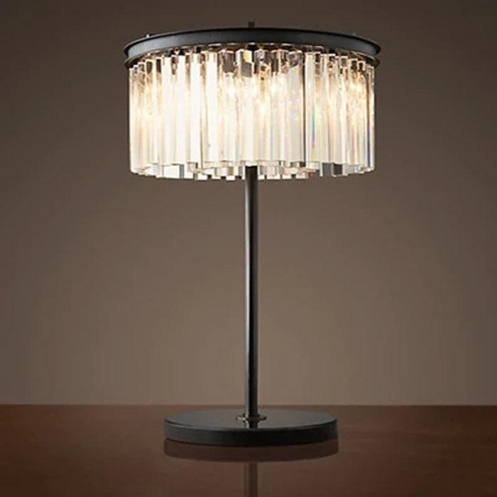 luces de mesa de cristal dormitorio restaurante francs de la vendimia retro clear u gray crystal