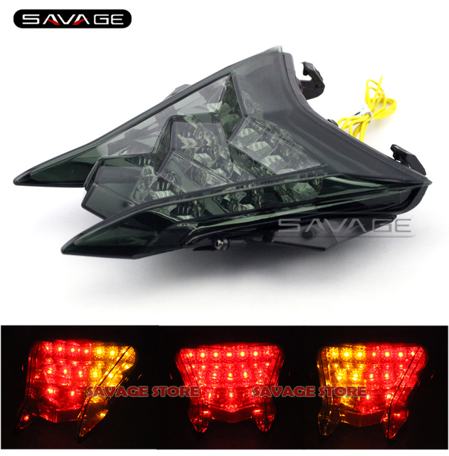 For BMW S1000R HP4 S1000RR 2010-2016 11 12 13 14 15 Motorcycle Integrated LED Tail Light Turn signal Blinker Lamp Smoke