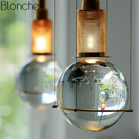 Пост Современные хрустальные подвесные светильники светодио дный Hanglamp мяч подвесной светильник для Гостиная Кухня домашний свет светильн