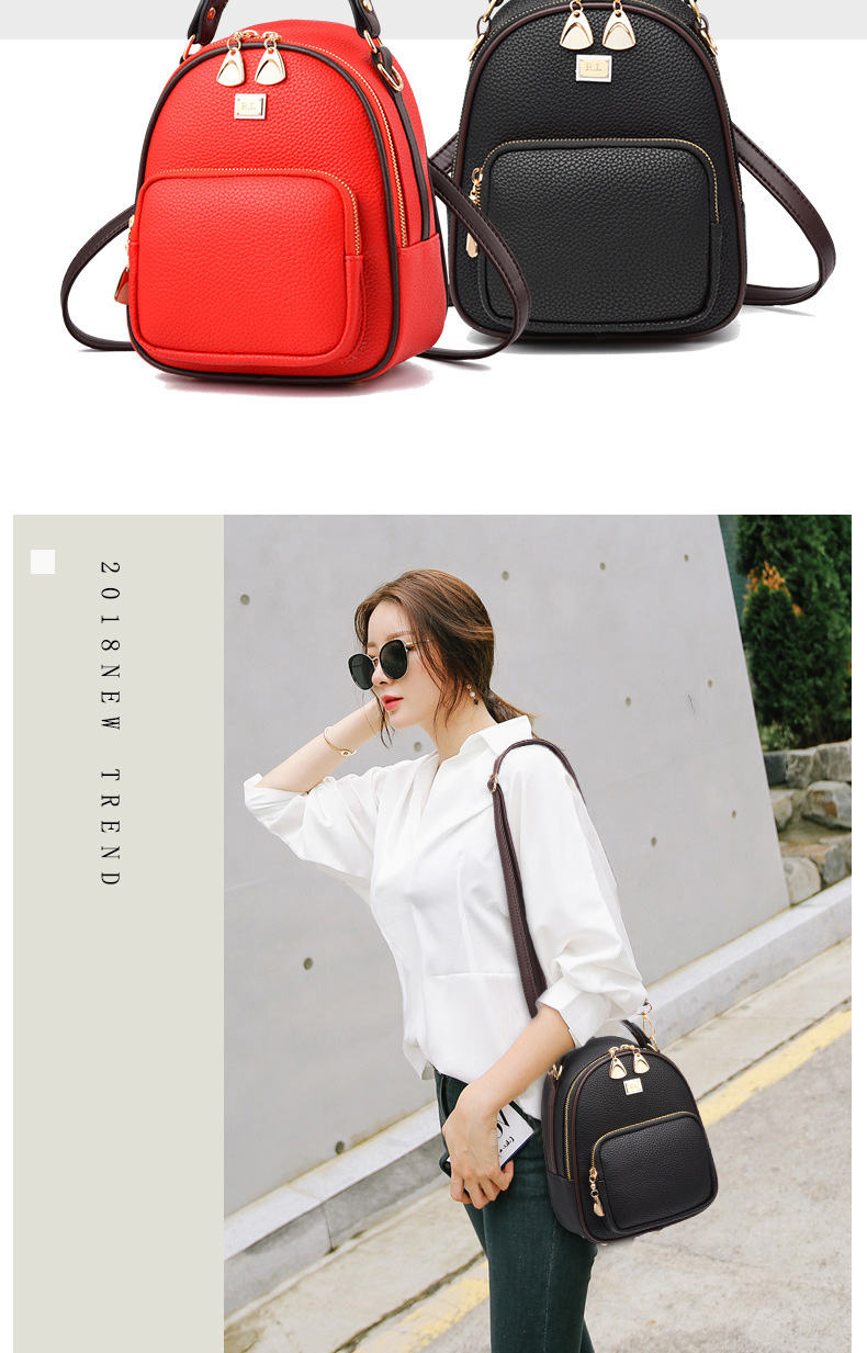 Brand New Leather Small Women Backpacks Zipper Shoulder Bag Female Phone Bags Lady Portable Backpack for Girls Casual Style