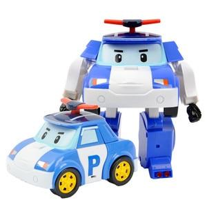 Image 3 - 6 개/대 한국 완구 robocar poli 변환 로봇 poli amber roy 자동차 모델 애니메이션 액션 피규어 어린이를위한 최고의 선물