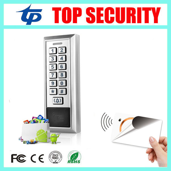 New arrival surface waterproof 13.56MHZ MF smart card door security access control system 8000 users metal IC card reader waterproof ic card reader door access control system rs485 232 output