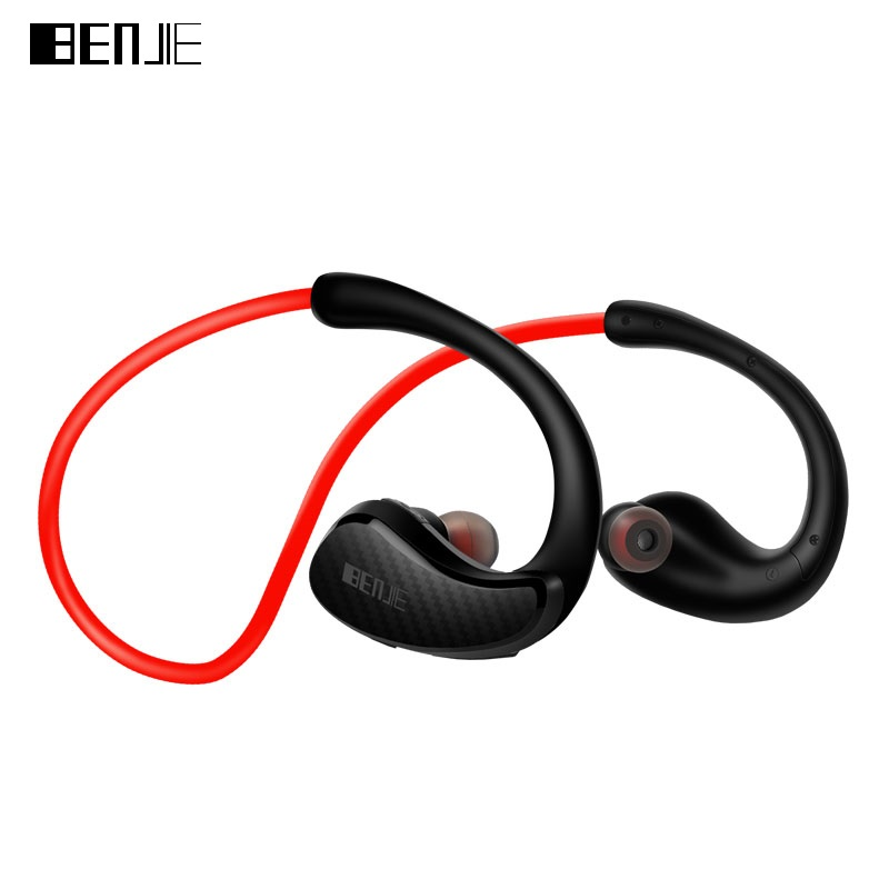 BENJIE Bluetooth Headphones Professional IPX4 Wireless Sport Bluetooth 4.1 Ergonomic Headset 8 Hours Play Time NFC CSR Chip 2017