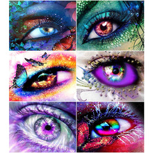 Oly 5D Diamond Painting Fantasy Full Round Mosaic Eyes Rhinestone Picture Embroidery Sale Home Decor