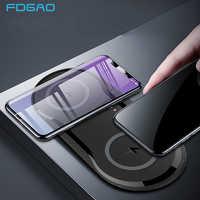 20W Doppio Sedile QI Caricatore Senza Fili di Ricarica Veloce Pad 2 in 1 Caricabatteria Da Tavolo per iPhone 11 Pro X XS MAX XR Per Samsung S10 S9