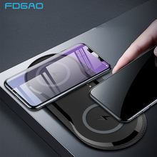 20W Double Seat QI Wireless Charger Fast Charging Pad 2 in 1