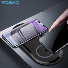 20W Dual Seat Qi Draadloze Oplader Snel Opladen Pad 2 In 1 Desktop Charger Voor Iphone SE2 11 Pro X Xs Max Xr Voor Samsung S10 S20