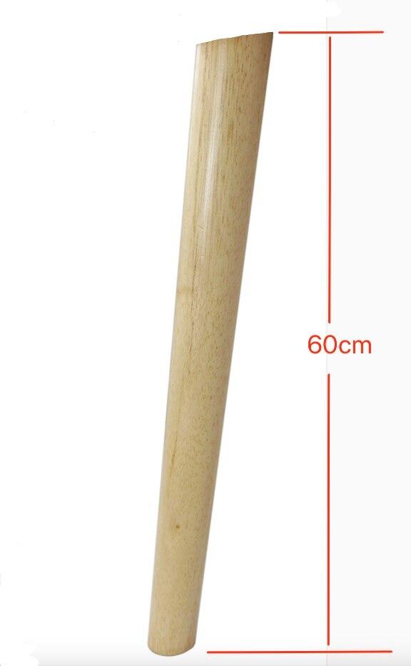 4PCS/LOT H:60CM Diameter:32-53mm Oblique Solid Rubber Wood Tea Table Sofa Legs TV Cabinet Foots 4pcs lot h 80mm diameter 41mm space aluminum cabinet adjusting furniture foot tv cabinet sofa tea table supporting leg