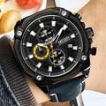 MEGIR Males's Large Dial Luxurious Prime Model Quartz Wristwatches Artistic Enterprise Stainless Metal Sports activities Watches Males Relogio Masculino HTB1r3jprMmTBuNjy1Xbq6yMrVXa8