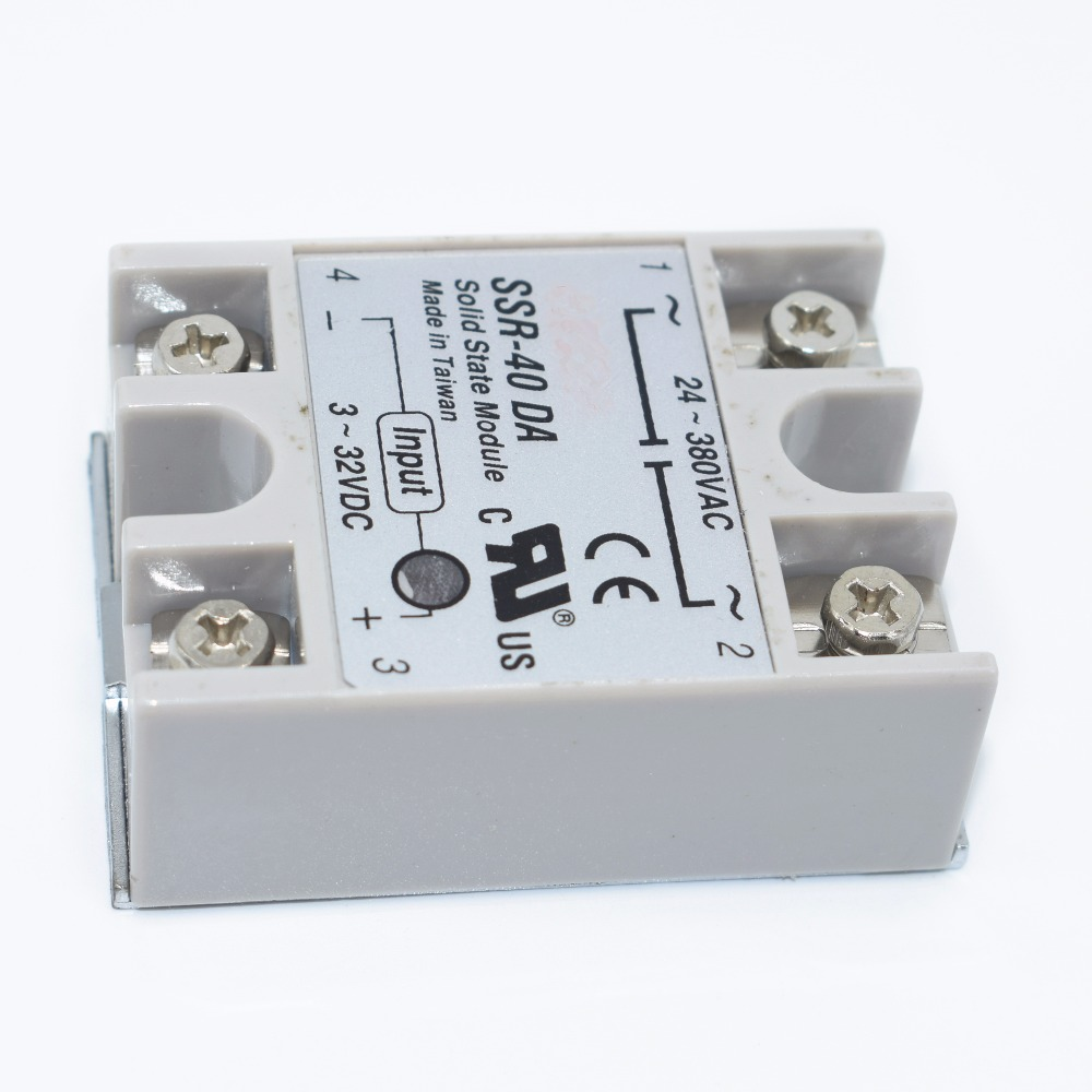 10PCS SSR 40 DA DC to AC DC AC Solid State Relay Module SSR 40DA Temperature