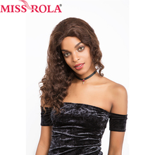 Miss Rola Hair Pre-Colored Brazilian Body Wave Full Lace Frontal Short Bob Wigs for Nature Black Color Women 16inch 155g Closure