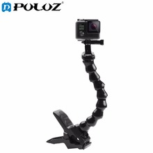 Buy online For GO PRO Accesories Jaws Flex Clamp Mount and Adjustable Neck for GoPro Camera Hero 5 /2/3/3+/4 sj4000/5000/6000 XIAOMIYI