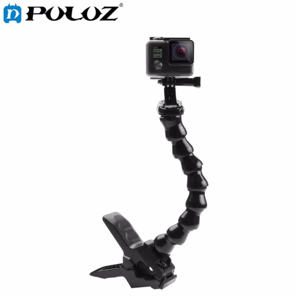 Para gopro accesorios JAWS Flex clamp Mount y ajustable Masajeadores de cuello para gopro cámara Hero 5/2/3 /3 +/4 sj4000/5000/6000 xiaomiyi