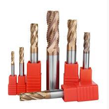 55 derece tungsten çelik CNC alüminyum kaba kesici paslanmaz çelik alaşımlı parmak freze çakısı için özel amaçlı kalın deri