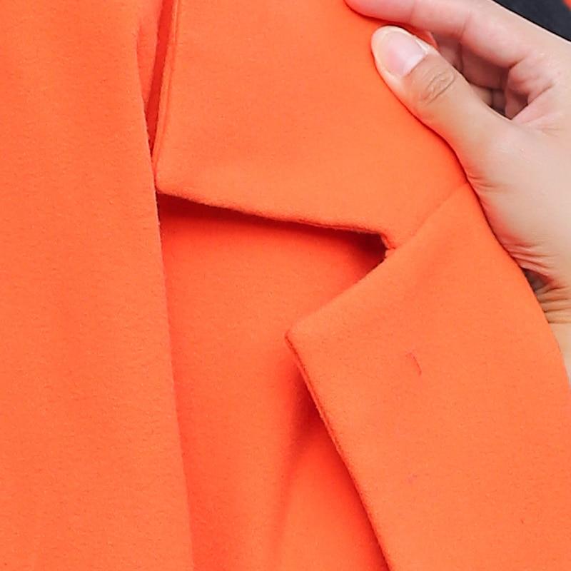 Caldo Slim Femminile Donne gray blue Regolabile Vita Più Moda Il Cashmere 2017 Formato Fit Lungo Orange Di Wfy49 Lana Inverno Delle Autunno claret Misto Cappotto 54qZxwq70