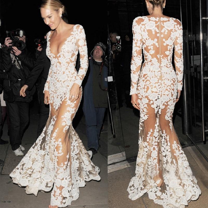 Kleid lang unten transparent
