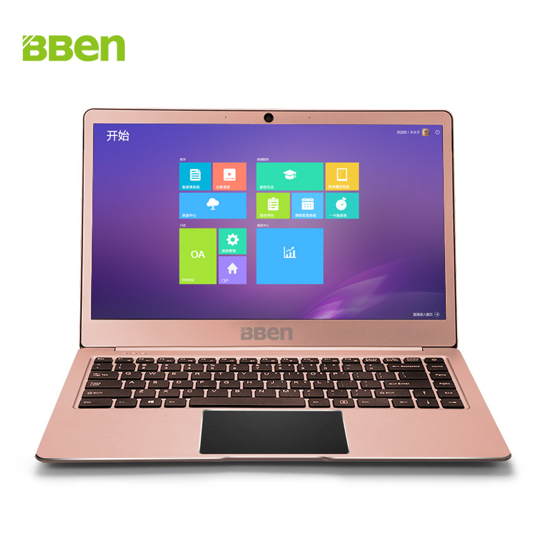 Bben Windows 10 N14W Intel Apollo N3450 CPU Cadre Étroit 4g DDR3 RAM 64g Mem + M.2 SSD option Ordinateur Portable Ultrabook Ordinateur Portable