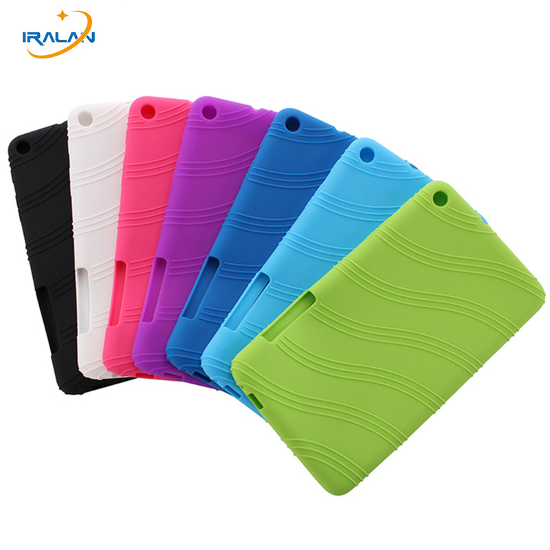 2017 Hot Soft Silicon Back Cover for Huawei MediaPad T1 701u 7 inch Tablet Case for Huawei T1 7.0 T1-701u+stylus free shipping