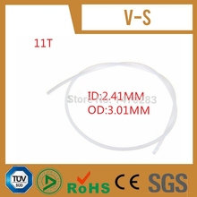 10 meter long PTFE 11T Tube OD 3 01mm ID 2 41mm Approve SGS certification for