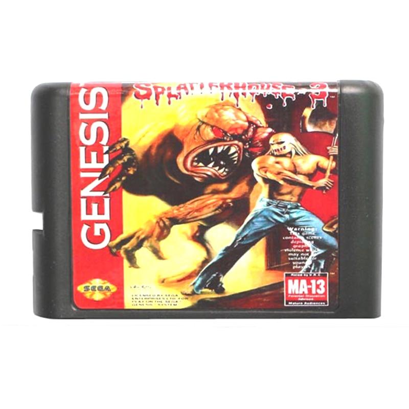 Splatterhouse Part 3 16 bit MD Game Card for Mega Drive for Genesis EU/JP Shell