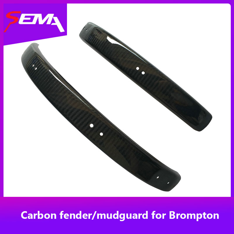 Carbon fender mudguard SEMA for 16 inch Brompton bicycle rims best quality a pair of splash