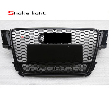 Audi A5 Grille Refit ABS Black Quattro Painted Front Honey Mesh Grille Sedan Coupe Convertible For Audi A5 S5 RS5 2008-2011 grille