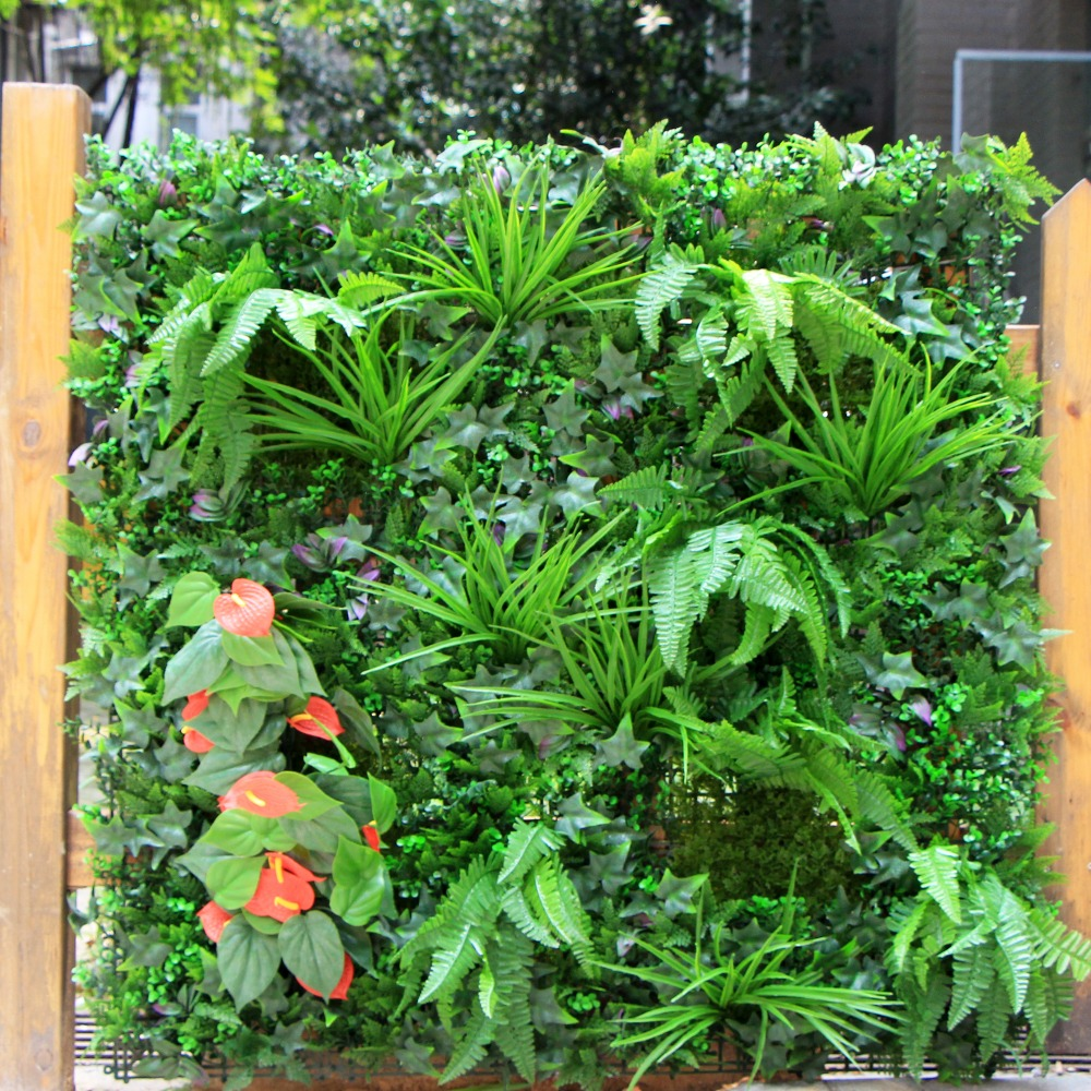 Coperture Per Recinzioni Giardino.1 Mq Ornamentali Da Giardino Recinzione Artificiale Verde Piante