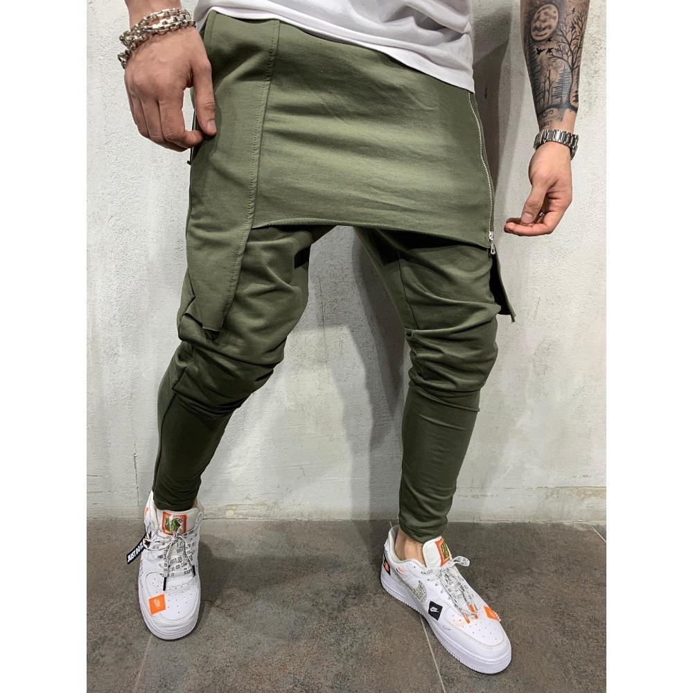 New Zipper Double-layer Men Joggers Pants Streetwear 1