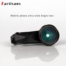 7 אומנים סופר רחב זווית עיוות משלוח נייד טלפון עדשת אפל Huawei xiaomi נייד טלפון אוניברסלי מצלמה חיצוני HD עדשה