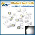 100 unids/lote fantasma contra #555 Hotselling AC 6.3 V W5W 5050smd pinball juego de piezas de la máquina de pinball llevó fantasma luces