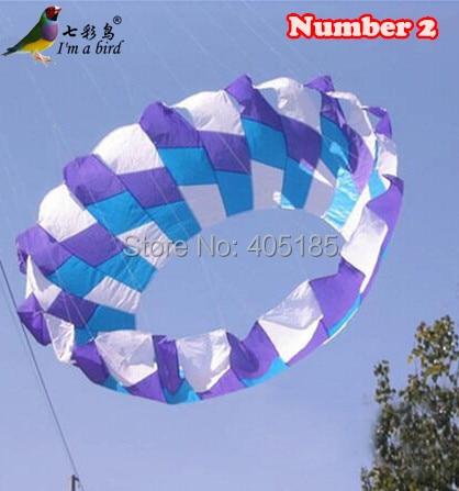 Livraison gratuite Sports de plein air 2 m blanc bleu violet puissance Halo cerf-volant/anneau/très agréable pour noël cadeau usine vente directe