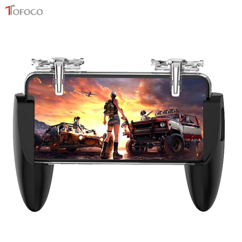 New For PUBG Gamepad Cell Phone Mobile Control Joystick Gamer Android Game pad L1R1 Controller for iPhone Xiaomi Trigger