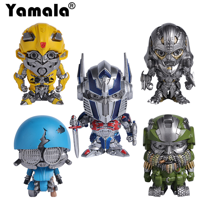 [Yamala] Hot Sale 6 cm Transformation 5  PVC Action Figure Toy  Gifts Collection Model Toys for Children Accessories for car dinosaur transformation plastic robot car action figure fighting vehicle with sound and led light toy model gifts for boy