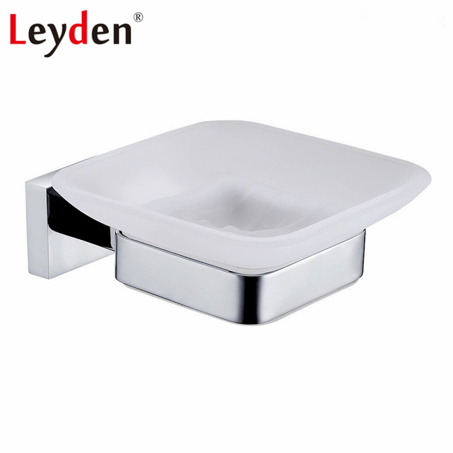 Leyden Bathroom Soap Holder Stainless Steel Dish Wall Mounted Chrome Shower Dishes Gl