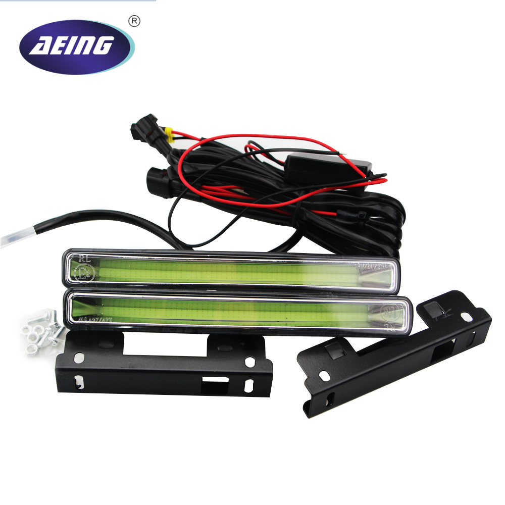 цена на AEING Car-Styling 2PCS 12V LED Light High Power COB DRL Driving Daytime Running Lights fog Lamp light xenon white/ice blue