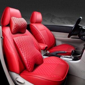 Image 2 - (ด้านหน้า + ด้านหลัง) พิเศษรถหนังที่นั่งสำหรับ Volkswagen VW Passat โปโลกอล์ฟ Tiguan Jetta Touareg Auto accessorie จัดแต่งทรงผม