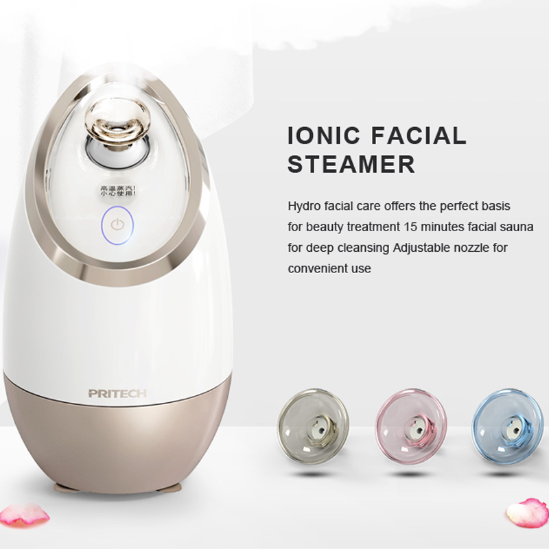 Image 3 - PRITECH Deep Cleaning Facial Cleaner Beauty Face Steaming Device Facial Steamer Machine Facial Thermal Sprayer Skin Care Tool-in Facial Steamers from Home Appliances