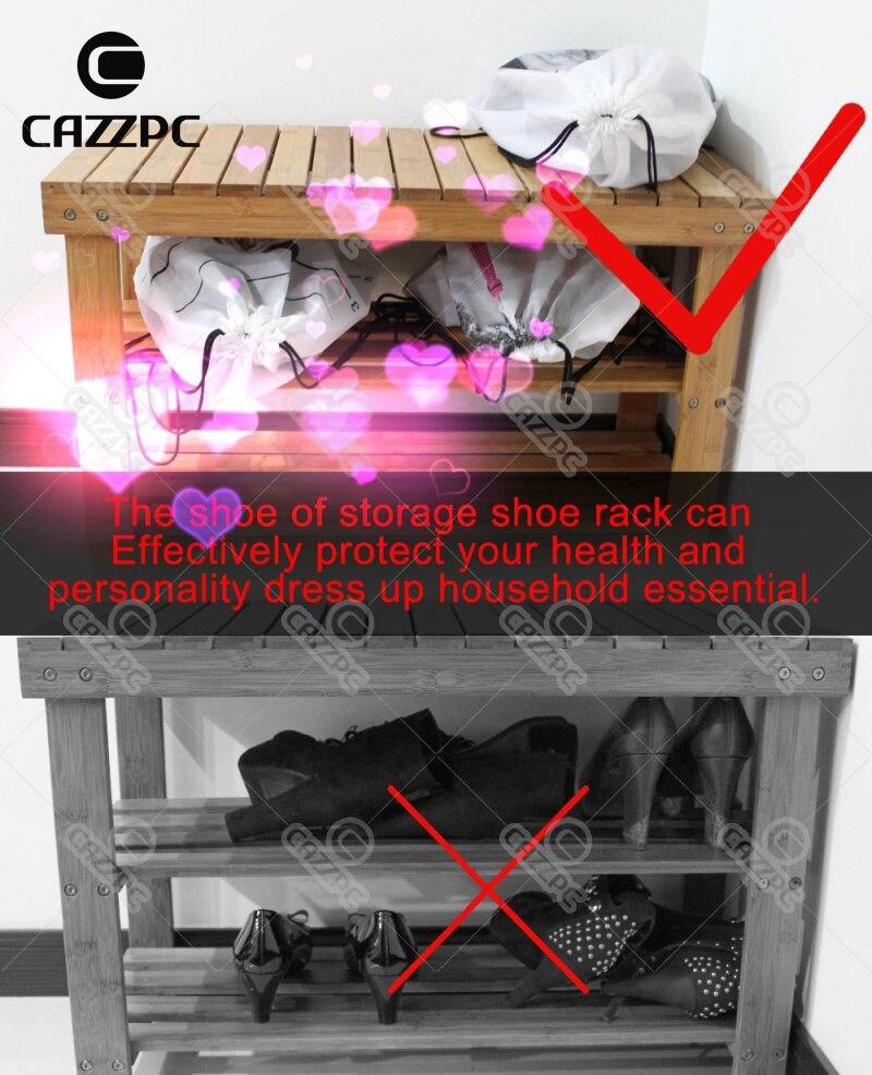 Painted Funny Cool Bulldog Wearing Flag Glasses Print Custom individual Nylon Fabric Drawstring Shoes Storage Dust Bag Pack of 4