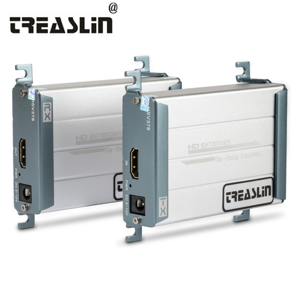 TreasLin HDMI Extender over Single Cat5 Cat6 Up to 328FT 100M Lossless No Latency HDMI Transmitter