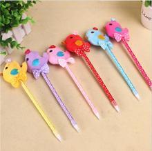 1pcs/lot Kawaii 3D Feather Chicken Ballpoint Pen Cartoon Gift  Fashion For Office And School Supplier