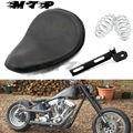 Assento De Couro da motocicleta Primavera Almofada Sela Suporte Mounts Kit para Harley Sportster Softail Springer Bobber Chopper Personalizado