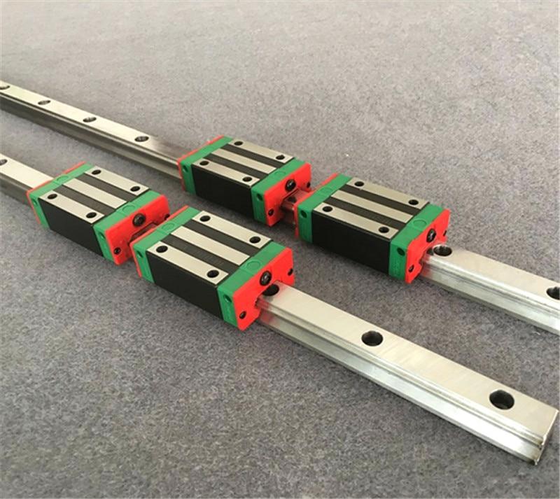 2 juegos de rieles lineales HGR15 + 1 tornillos de bola SFU1605 cualquier longitud + tornillo de bola SupportBK/BF12 + 1 acopladores para CNC
